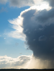 the looming storm cloud.