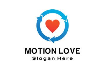 MOTION LOVE LOGO DESIGN