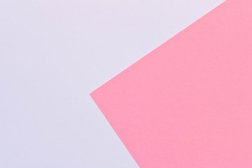 Color Trends background. Pink white abstract geometric background.