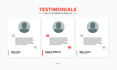 Testimonials - User Interface Design