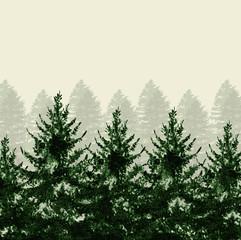 Christmas tree watercolor modern classic pattern