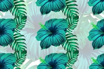 Hawaiian tropic jungle endless print.