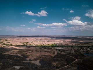 A beautiful aerial view of semi-arid of Brazil