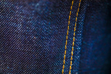Blue and Yellow Denim with stitching