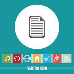 Very Useful Vector Icon Of Document with Bonus Icons. Very Useful For Mobile App, Software & Web.