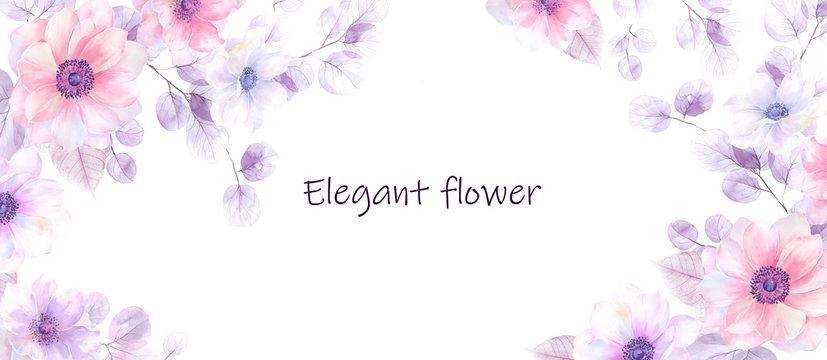 Beautiful watercolor flower