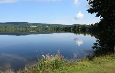 Fototapete - See in Weißenstadt am See
