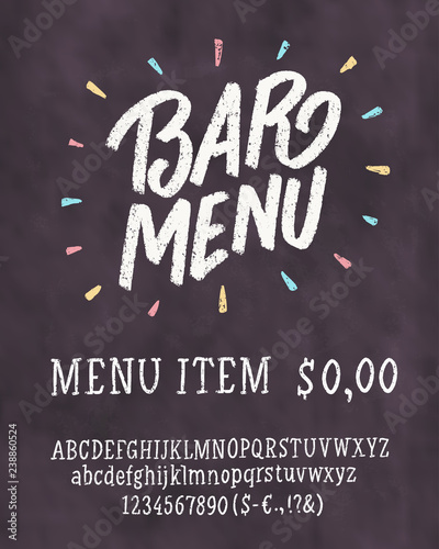 bar menu template chalkboard menu template stock image and