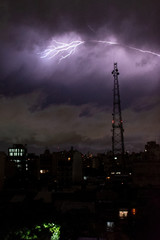 A lightning strikes during a storm in Buenos Aires