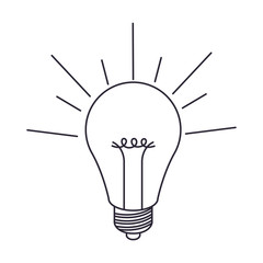 light bulb on isolated icon