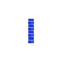 Vector Brick Logo Letter I