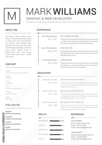 Simple And Clean Resume