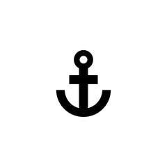 anchor vector icon. anchor sign on white background. anchor icon for web and app