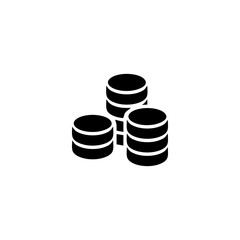 coin vector icon. coin sign on white background. coin icon for web and app