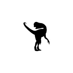 dinosaur vector icon. dinosaur sign on white background. dinosaur icon for web and app