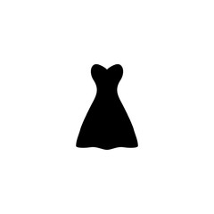 dress vector icon. dress sign on white background. dress icon for web and app