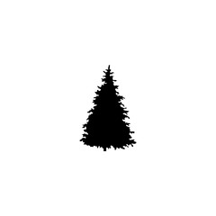 fir tree vector icon. fir tree sign on white background. fir tree icon for web and app