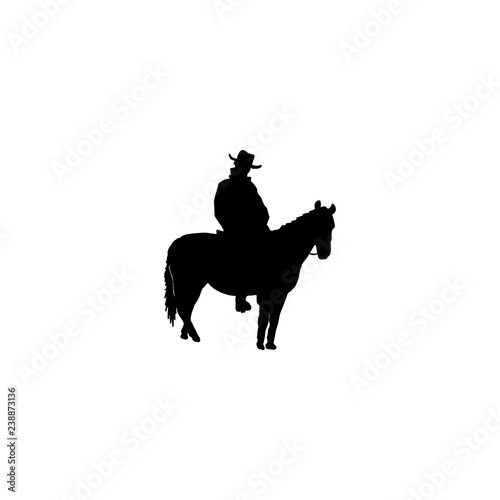 horse rider vector icon  horse rider sign on white