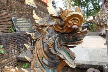 Around a temple in Thailand