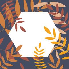 Blätter Etikett