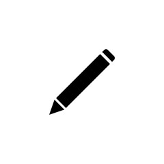 pencil vector icon. pencil sign on white background. pencil icon for web and app