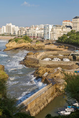 Biarritz basque village in the south of France