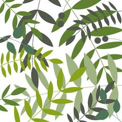 Blätter grün