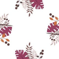 Blätter Umrandung