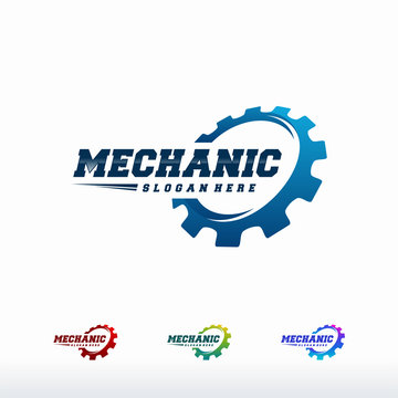 Gear Logo designs Template Vector, Mechanic logo symbol, Logo symbol icon template