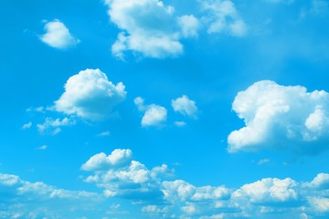 beautiful toned cumulus clouds for using in design as background.