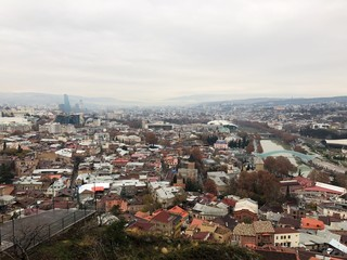 Beautiful views of the town and the river Tbilisi Georgia
