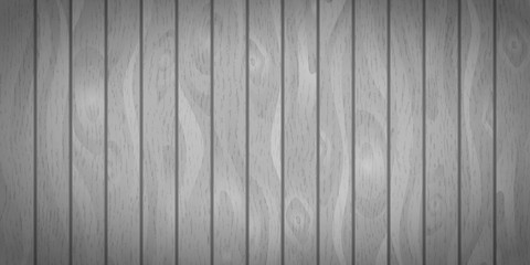 Bright gray realistic wooden boards with texture