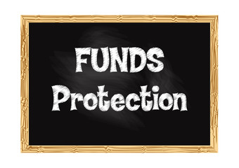 Funds Protection blackboard business record Vector illustration for design