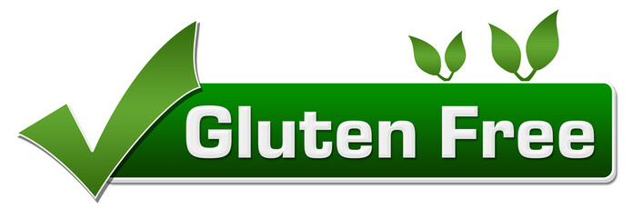 Gluten Free Green Leaves Tick Mark