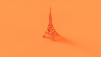 Orange Eiffel tower 3d illustration 3d render Fototapete