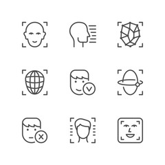 Set line icons of face ID