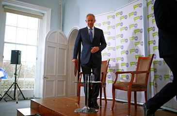 Britain's former Prime Minister Tony Blair addresses the media at a news conference held by The People's Vote in London