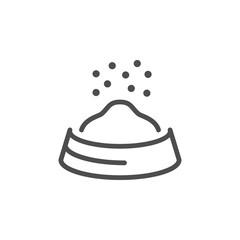 Pet food line icon