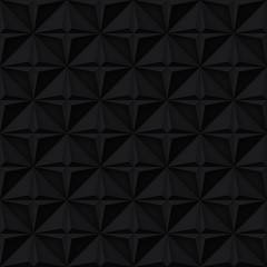 Volume realistic vector stars texture, dark geometric seamless tiles pattern, design black background for you projects