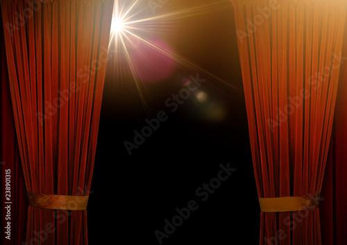 Rideau Scène Spectacle Théâtre Velour Rouge Concert Cabaret Entrée