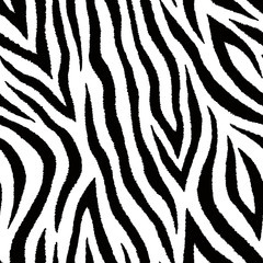 Seamless pattern with zebra fur print. Vector wallpaper. Animal skin texture.