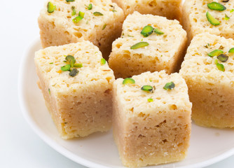 Indian Traditional Famous Sweet Food Mysore Pak or Mysoor Pak