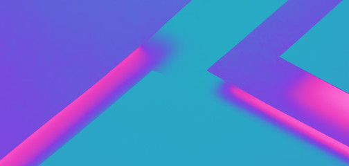 Ultraviolet and blue paper concept background with copy space. Geometric layer design with group of paper sheets