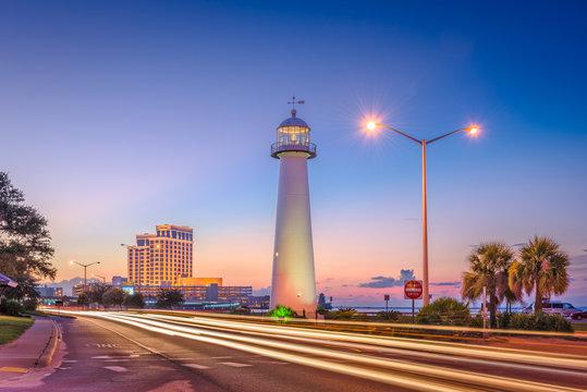 Biloxi, Mississippi, USA at Biloxi Lighthouse