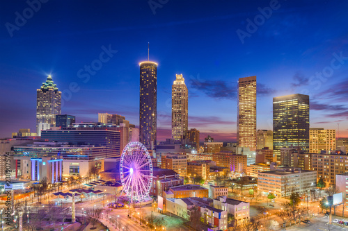 Fototapete Atlanta, Georgia, USA Dawn Skyline