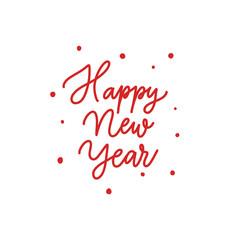 Happy new year  -  hand lettering desiign inscription vector.
