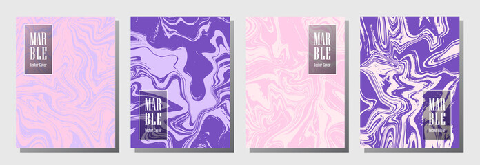 Modern journal layouts set. Background for binder template, corporate flyers. Annual report cover memphis layouts set. Flyer, brochure, report, journal, binder vectors, title place.