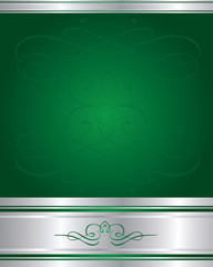Background-Elegant Green and Silver Corporate Background