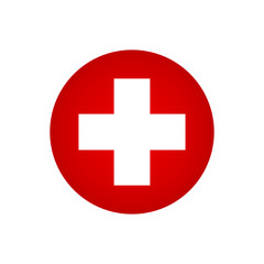 Red cross hospital icon