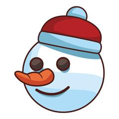 christmas snowman cartoon